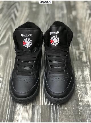 Зимние кроссовки Reebok черные с мехом