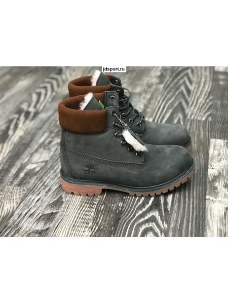 Timberland 6 Inch Premium Waterproof Boots (Olive Nubuck)